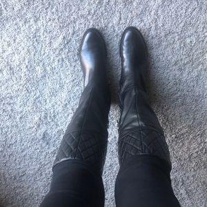 Adrienne Vittadini Tall Leather Boot- NEW